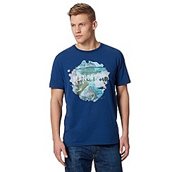 Mantaray - Blue 'Born To Surf' crew neck t-shirt