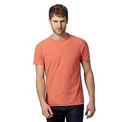 Mantaray - Big and tall peach textured crew neck t-shirt