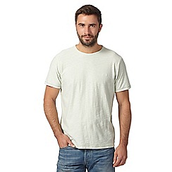 Mantaray - Big and tall pale green textured jersey t-shirt