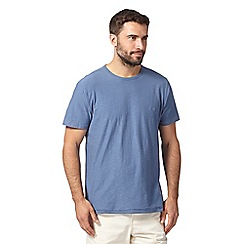 Mantaray - Big and tall mid blue textured jersey t-shirt