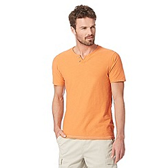 Mantaray - Big and tall light orange notch neck t-shirt