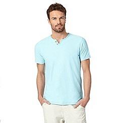 Mantaray - Light blue notch neck t-shirt