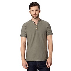 Mantaray - Dark grey low Y neck t-shirt