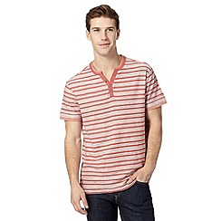 Mantaray - Red jacquard striped top