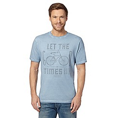 Mantaray - Blue 'Let the good times roll' t-shirt