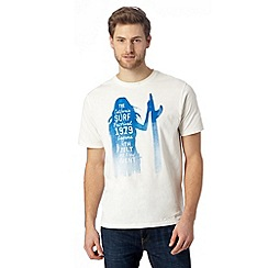 Mantaray - Off white 'California Surf Festival' t-shirt