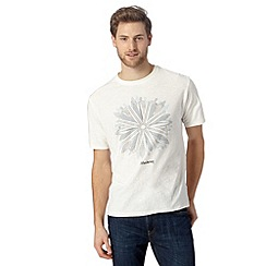 Mantaray - Big and tall off white kaleidoscope surfer t-shirt