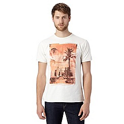 Mantaray - Big and tall off white surf board print t-shirt