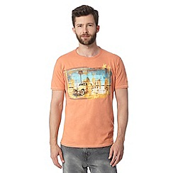 Mantaray - Orange car and surfboards print t-shirt