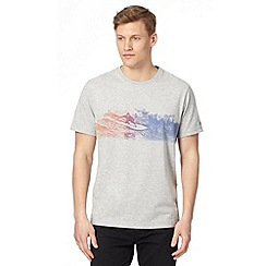 Mantaray - Grey coloured surf print t-shirt
