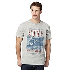 Mantaray - Grey 'Summer Surf' t-shirt
