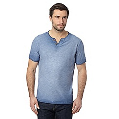 Mantaray - Big and tall blue textured wash t-shirt