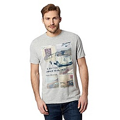 Mantaray - Grey 'British Road Trip' t-shirt