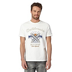 Mantaray - Off white surfs up applique t-shirt