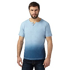Mantaray - Big and tall blue dip dye notch neck t-shirt