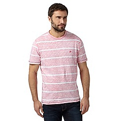 Mantaray - Pink striped logo t-shirt