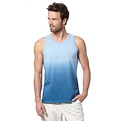 Mantaray - Blue jersey dip dye vest