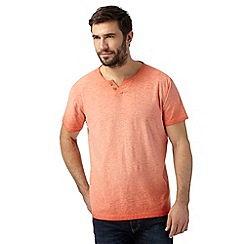 Mantaray - Orange oil wash notch t-shirt