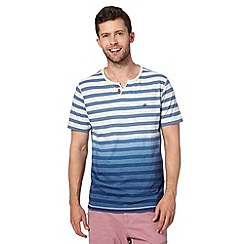 Mantaray - Blue striped dip dye t-shirt