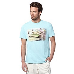 Mantaray - Light turquoise surf board photo t-shirt