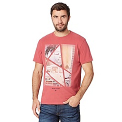 Mantaray - Dark red pieced camper van photo t-shirt