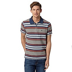 Mantaray - Big and tall red striped pique polo shirt