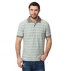 Mantaray - Big and tall grey reverse striped polo shirt