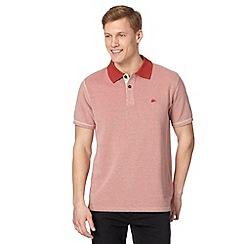 Mantaray - Big and tall red spotted leaf lined polo shirt