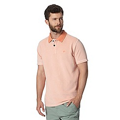 Mantaray - Big and tall light orange heavy pique polo shirt