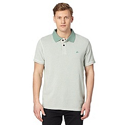 Mantaray - Big and tall green spotted leaf lined polo shirt