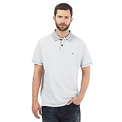 Mantaray - Big and tall light grey spotted leaf lined polo shirt