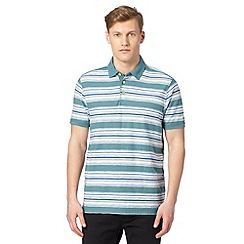 Mantaray - Green striped polo shirt