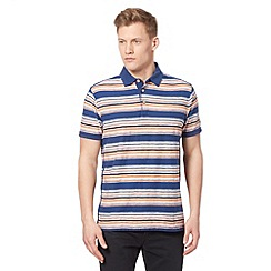 Mantaray - Big and tall blue reverse stripe polo shirt
