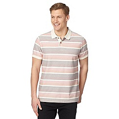 Mantaray - Big and tall red block striped polo shirt