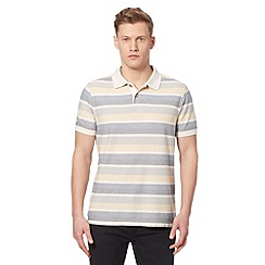 Mantaray - Big and tall yellow reverse stripe polo shirt