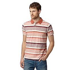 Mantaray - Big and tall wine striped polo shirt