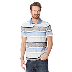 Mantaray - Big and tall natural striped polo shirt