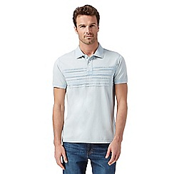 Mantaray - Light blue pin tuck polo shirt
