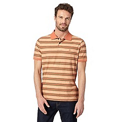 Mantaray - Orange fine striped polo shirt