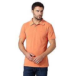 Mantaray - Big and tall orange pique polo shirt