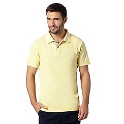 Mantaray - Big and tall yellow pique polo shirt