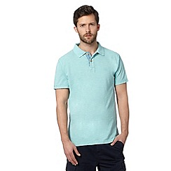 Mantaray - Light turquoise pique polo shirt