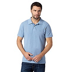 Mantaray - Big and tall light blue pique polo shirt
