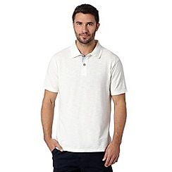Mantaray - Big and tall white pique polo shirt