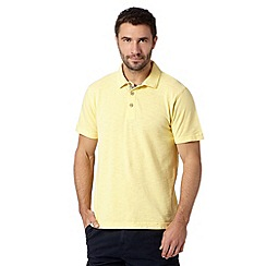 Mantaray - Yellow pique slub polo shirt