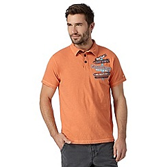 Mantaray - Orange signpost applique polo shirt