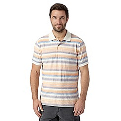 Mantaray - Big and tall light pink textured striped polo shirt