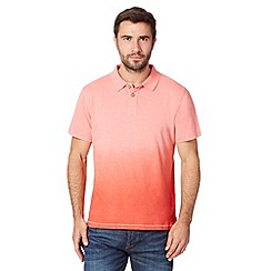 Mantaray - Big and tall pink dip dye polo shirt