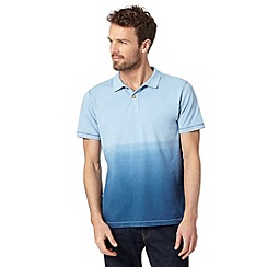 Mantaray - Blue dip dye polo shirt