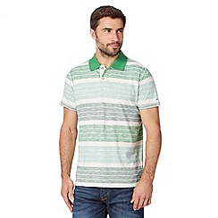 Mantaray - Big and tall green tonal striped polo shirt